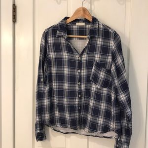 CP Shades plaid button down shirt